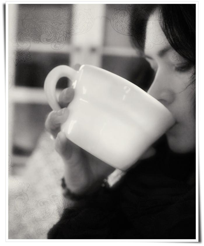 Pia dricker te
