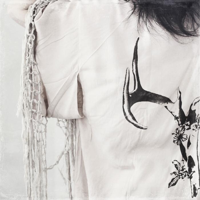 Stag Amulet Fringe Kimono