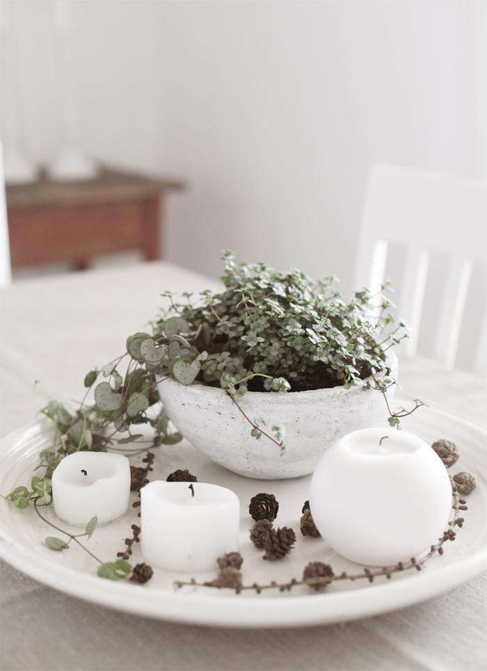 Keramikfat med grönt