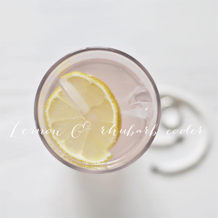 Lemon and rhubarb drink