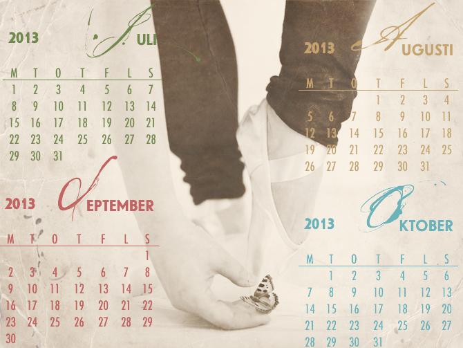 Calendar brush 2013