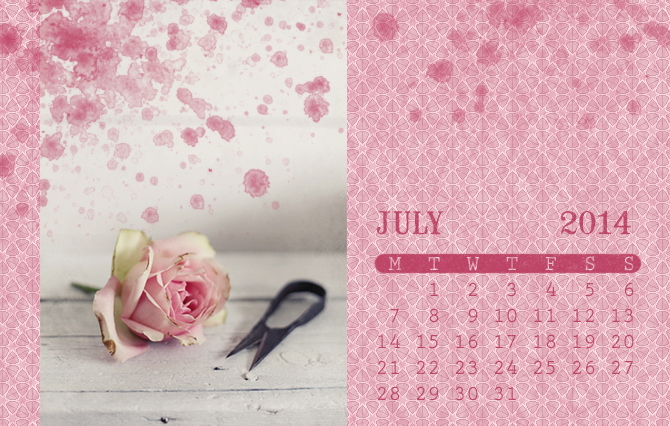 Vintage calendar brush 2014