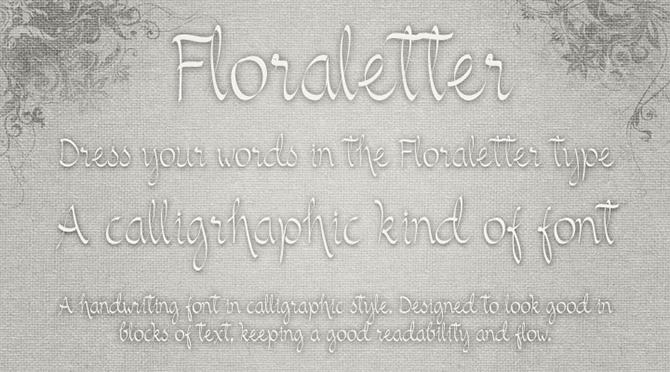 Floraletter font