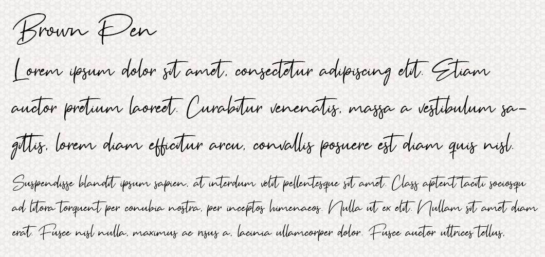 Brown Pen font