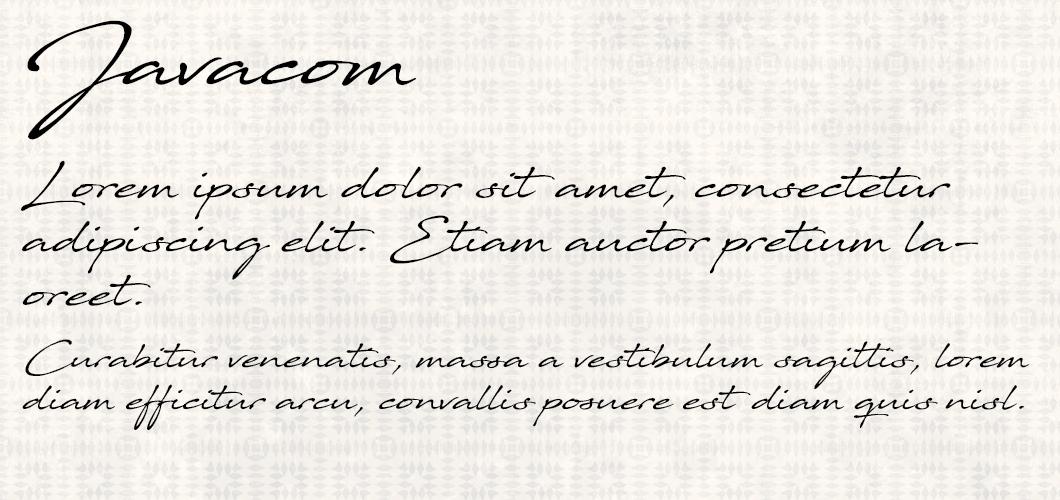 Javacom font