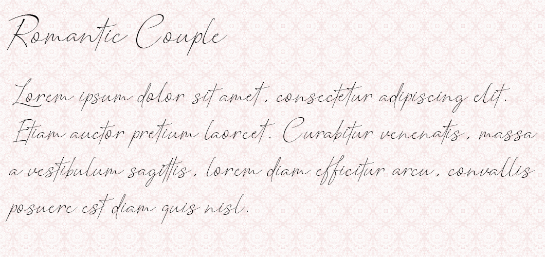 Romanic Couple font